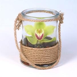 композиция в обплетенной вазе