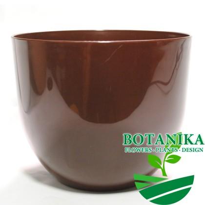 Горшок-Класик-коричневый